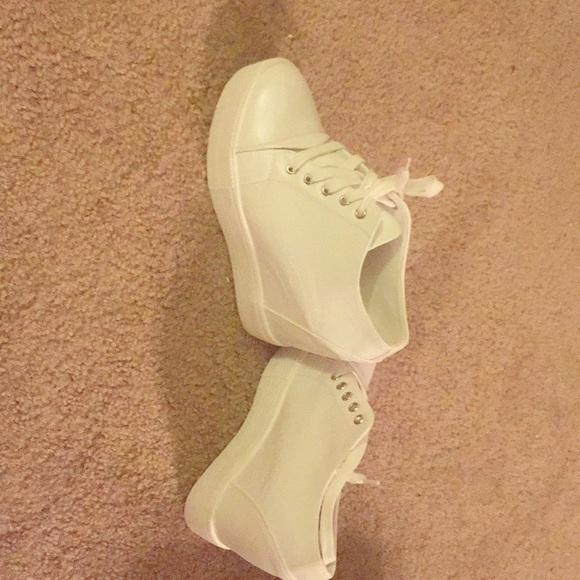 Shoes - White wedge sneaker